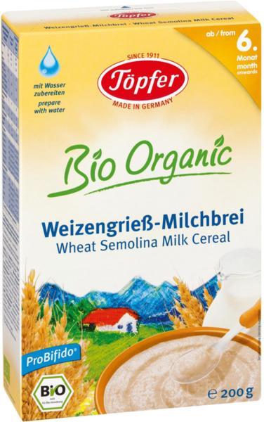 Topfer  Бебешка млечна каша с Пшеничен грис LACTANA  200гр.